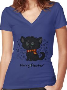 Harry Pawter Women's Fitted V-Neck T-Shirt