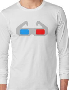 3D Glasses Long Sleeve T-Shirt