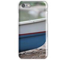 rowing boat on the beach close to iPhone Case/Skin
