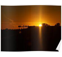 Lonely Desert Sunset Poster
