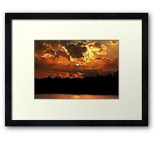 Mysterious Sunset Framed Print