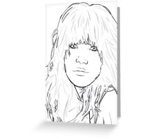 Carly Rae Jepsen Illustration - Black Greeting Card