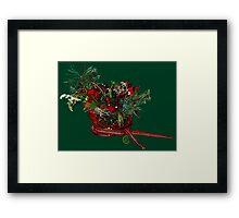 """Holiday Crystal Sleighs""© Framed Print"