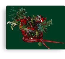 """Holiday Crystal Sleighs""© Canvas Print"