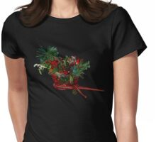 """Holiday Crystal Sleighs""© Womens Fitted T-Shirt"
