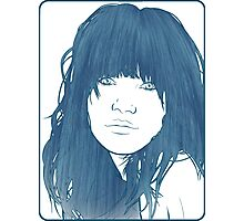 Carly Rae Jepsen Illustration - Blue Photographic Print
