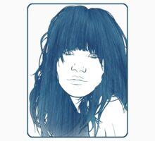 Carly Rae Jepsen Illustration - Blue by Freddie Horton