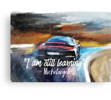Michelangelo quote Sportcar oil paints nature Canvas Print