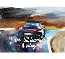 Michelangelo quote Sportcar oil paints nature Photographic Print
