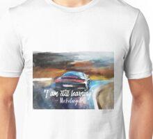 Michelangelo quote Sportcar oil paints nature Unisex T-Shirt