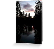 Twilight Reflections Greeting Card