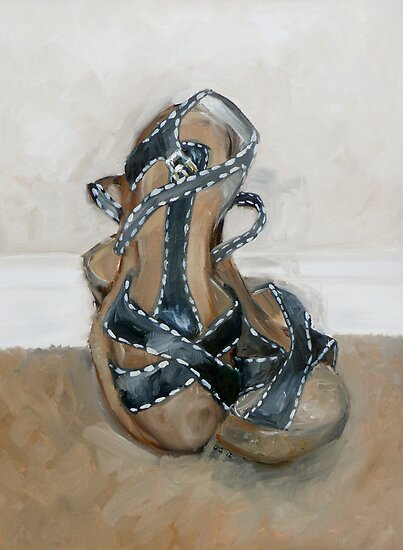 Black Shoes White Stitches by Jewel  Charsley