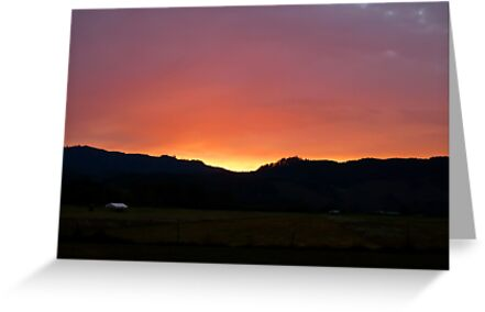 Sunset on the Airstrip by Jess Meacham