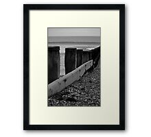 Wave Breaker Framed Print