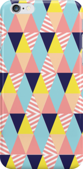 Modern Colorful and Girly Geometric by GirlyGirl