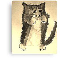 No bath today!  watercolor Canvas Print