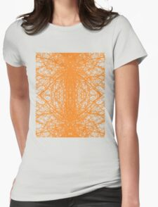 Branches - Orange Womens Fitted T-Shirt