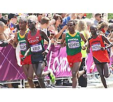 Gold And Silver - Mens Olympic Marathon - London 2012 Photographic Print