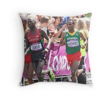 Gold And Silver - Mens Olympic Marathon - London 2012 Throw Pillow