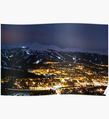 Night in Breck - Breckenridge, CO Poster
