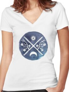 child of light symbol Women's Fitted V-Neck T-Shirt