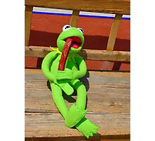 Eat Hunger Vespers Frog Kermit Photographic Print