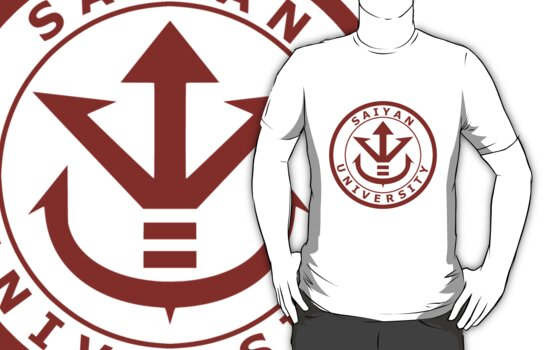 Saiyan University Crest - Red version by karlangas