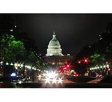 Strolling Down Pennsylvania Avenue Photographic Print