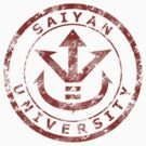 Saiyan University Crest - Red vintage by karlangas