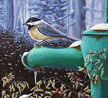 Winter Chickadee by kevincameronart