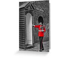 Clarence House Guard Greeting Card