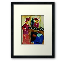 We are ready for Christmas, watercolor Framed Print