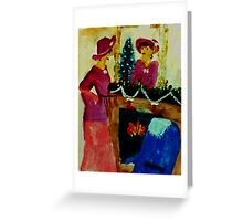 We are ready for Christmas, watercolor Greeting Card
