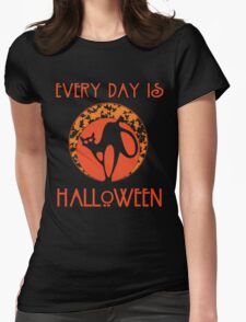 Every Day is Halloween Womens Fitted T-Shirt