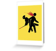 Ninja X-ing Greeting Card