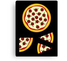 Pizza Sticker Kit (whole, quarter, 2 slices) Canvas Print