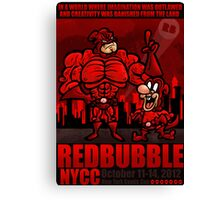 RED BUBBLE COMIC CON COMP ENTRY Canvas Print