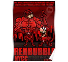 RED BUBBLE COMIC CON COMP ENTRY Poster