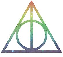 Deathly Hallows Rainbow by siriuslyholly