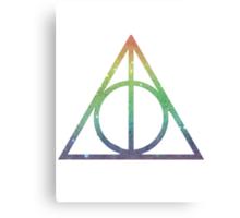 Deathly Hallows Rainbow Canvas Print
