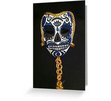 Calavera, Day of the Dead, Sugar Skull Mask Greeting Card