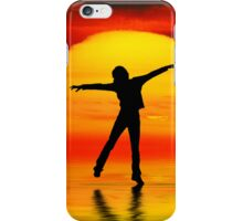 Dancing at sunset iPhone Case/Skin