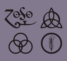 Led Zeppelin-4 ZOSO symbol Kids Clothes