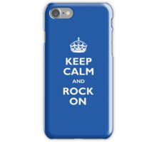Keep Calm - Blue iPhone Case/Skin