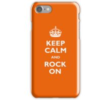 Keep Calm - Orange iPhone Case/Skin