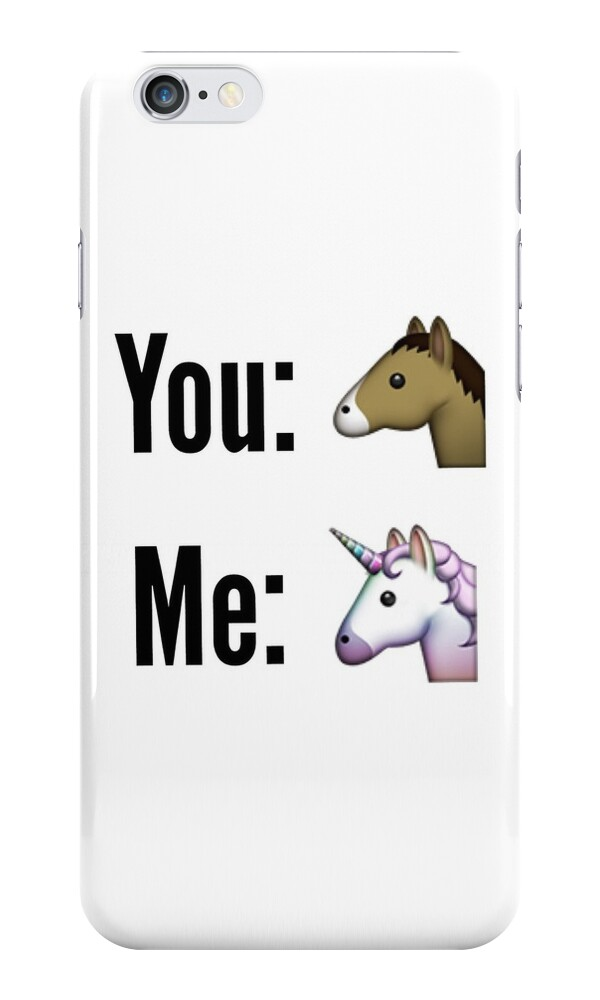 Quot Emoji Comparison Horse Amp Unicorn Quot Iphone Cases Amp Skins