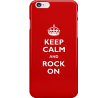 Keep Calm - Red iPhone Case/Skin