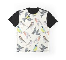 Illustrated Birds Graphic T-Shirt