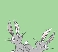Curious Pair of Rabbits by SimplyKitt