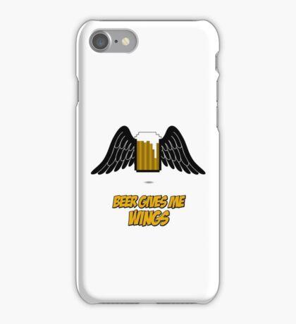 Beer give me wings iPhone Case/Skin